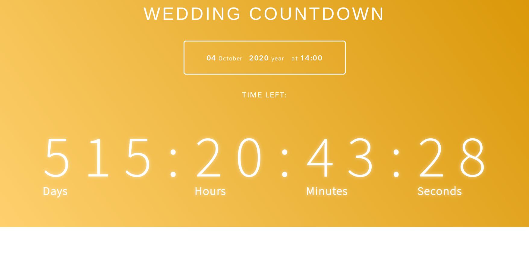 wedding clock